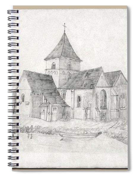 Water Inlet At Church Spiral Notebook