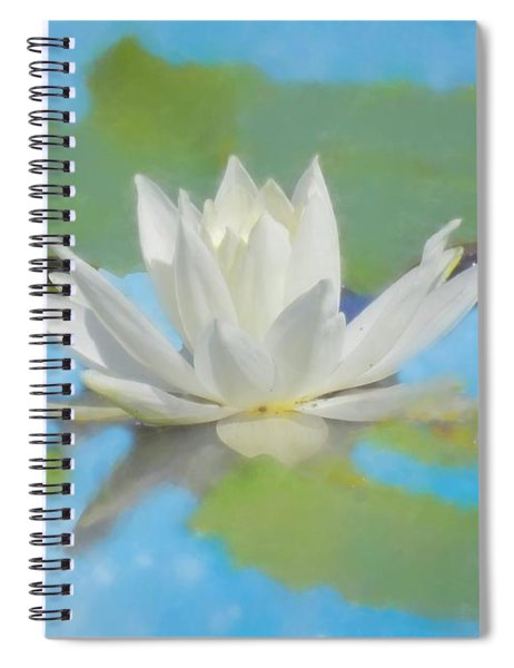 Water Lily Blossom Spiral Notebook