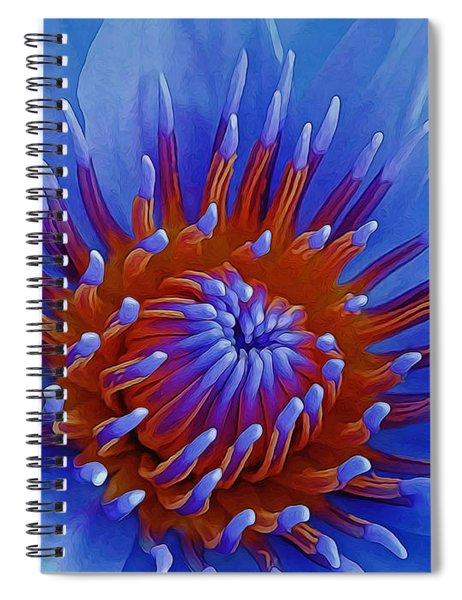 Water Lily Center Spiral Notebook