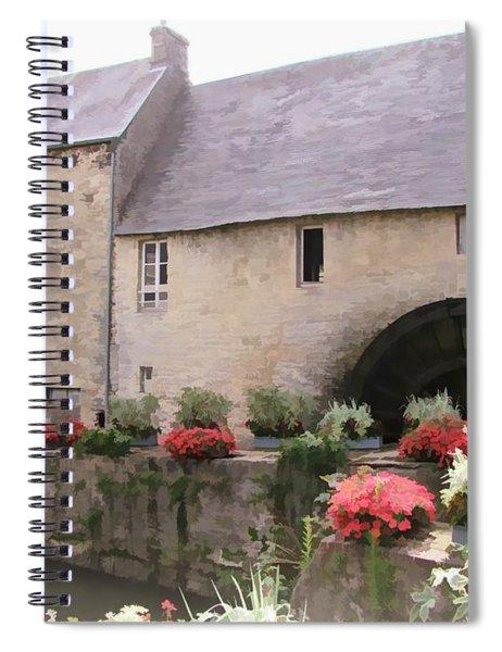 Water Mill - Bayeux - Normandy Spiral Notebook