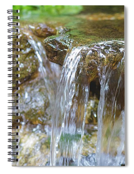 Water On The Rocks Spiral Notebook