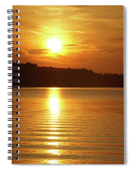Water Ripples And The Sunrise Spiral Notebook