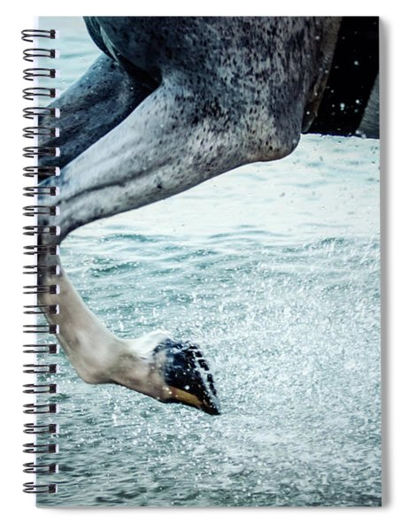 Water Splash Horse Legs Galloping On The Water Spiral Notebook