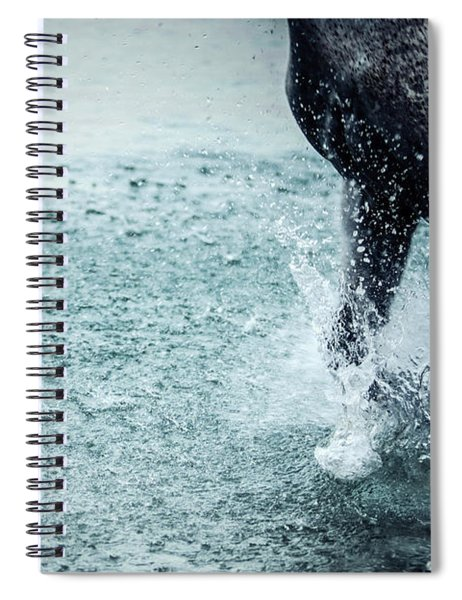 Water Splash Horse Legs Running On The Water Spiral Notebook