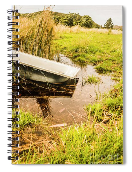 Water Troughs And Outback Farmland Spiral Notebook