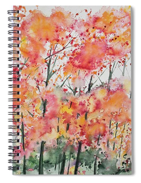 Watercolor - Autumn Forest Spiral Notebook
