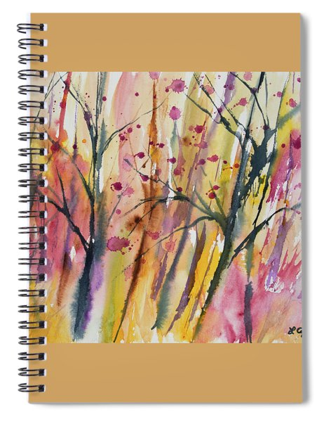 Watercolor - Autumn Forest Impression Spiral Notebook