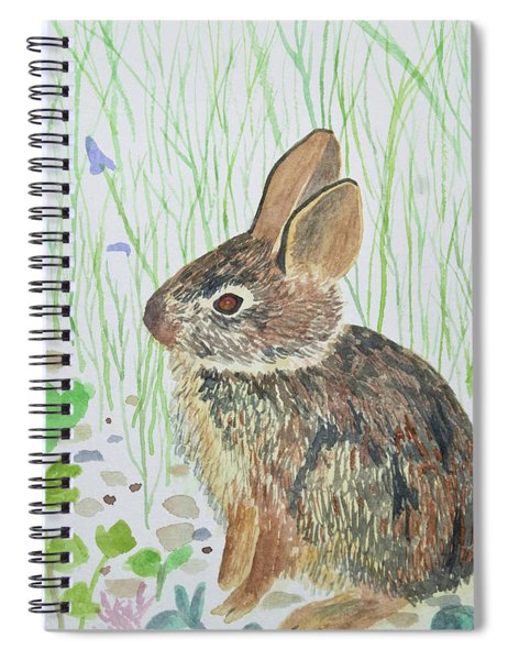 Watercolor - Baby Bunny Spiral Notebook