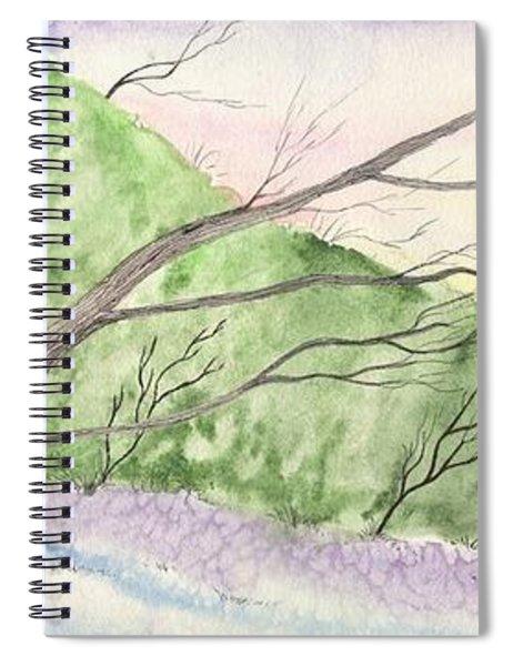 Watercolor Barn Spiral Notebook