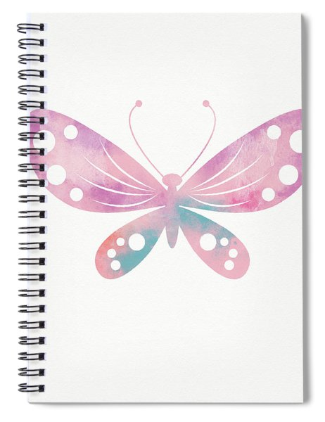 Watercolor Butterfly 1- Art By Linda Woods Spiral Notebook
