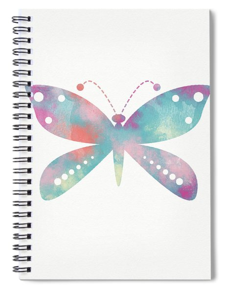 Watercolor Butterfly 3-art By Linda Woods Spiral Notebook