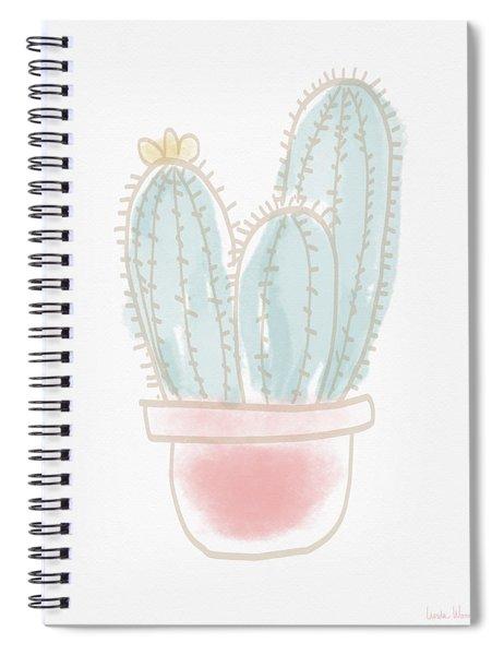 Watercolor Cactus- Art By Linda Woods Spiral Notebook by Linda Woods