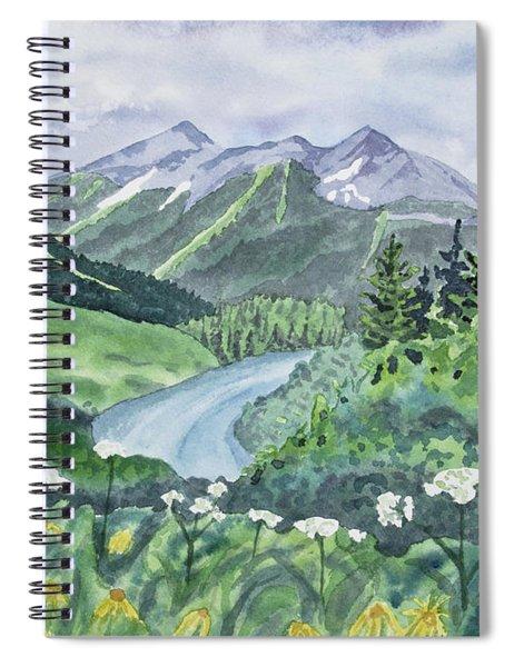 Watercolor - Colorado Summer Landscape Spiral Notebook