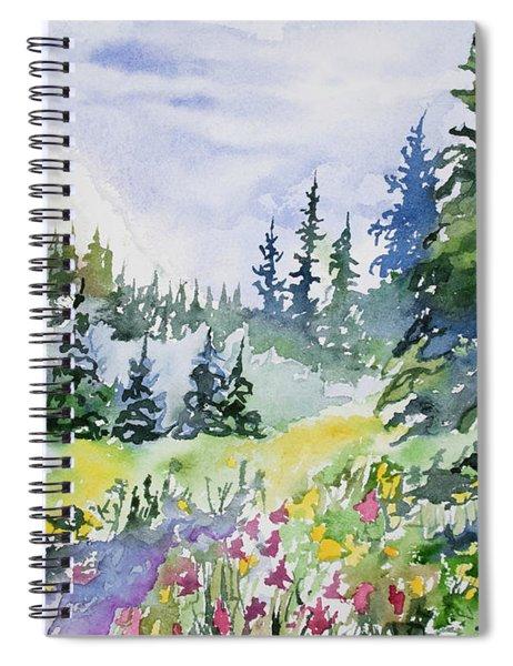 Watercolor - Colorado Summer Scene Spiral Notebook