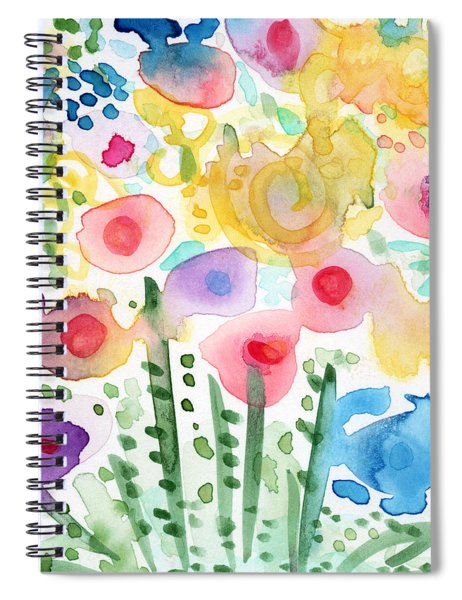 Watercolor Flower Garden- Art By Linda Woods Spiral Notebook