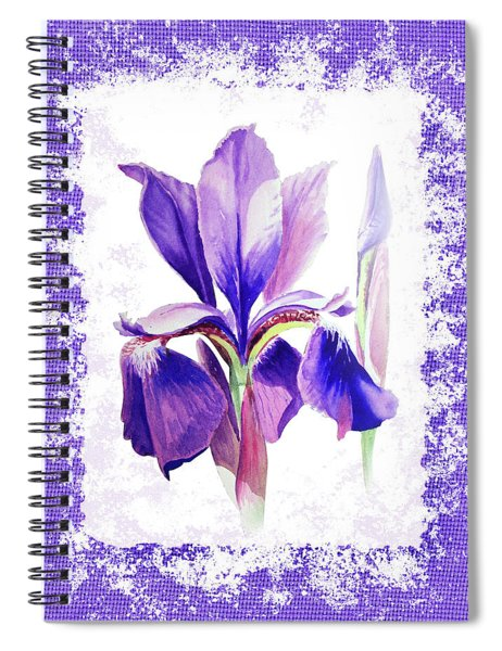 Watercolor Iris Painting Spiral Notebook