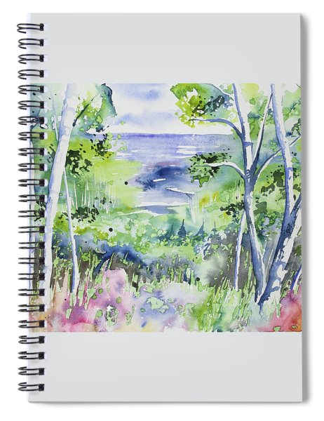 Watercolor - Lake Superior Impression Spiral Notebook