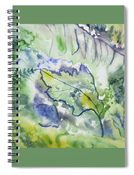 Watercolor - Leaves And Textures Of Nature Spiral Notebook