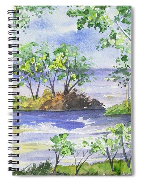 Watercolor - Minnesota North Shore Landscape Spiral Notebook