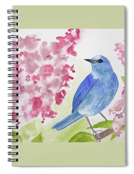 Watercolor - Mountain Bluebird Spiral Notebook