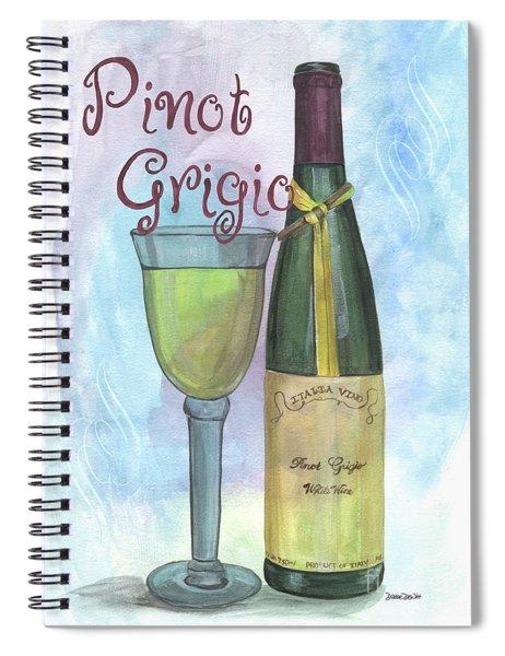 Watercolor Pinot Grigio Spiral Notebook
