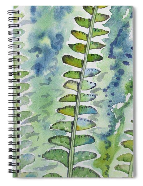 Watercolor - Rainforest Fern Impressions Spiral Notebook