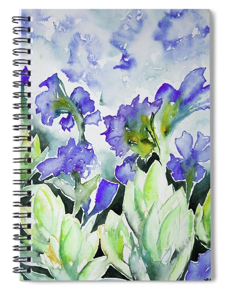 Watercolor - Rocky Mountain Wildflowers Spiral Notebook