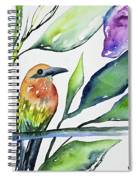 Watercolor - Rufous Motmot Spiral Notebook