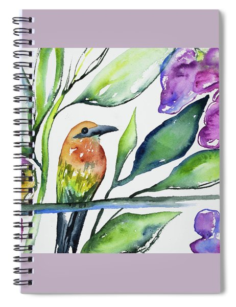 Watercolor - Rufous Motmot Spiral Notebook