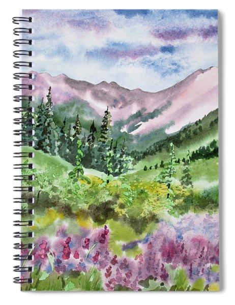 Watercolor - San Juans Mountain Landscape Spiral Notebook