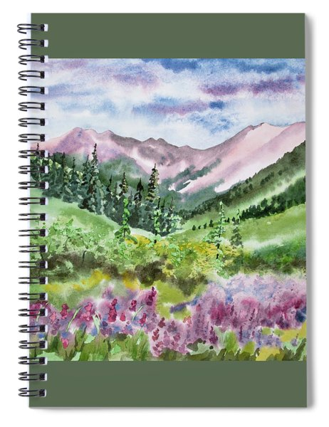 Watercolor - San Juans Mountain Landscape Spiral Notebook