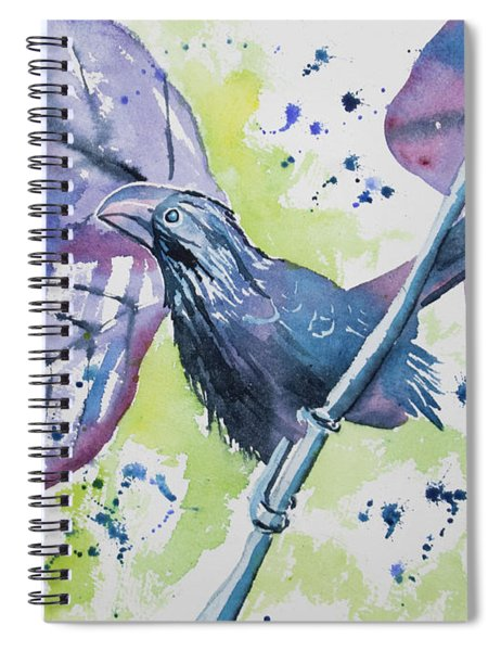 Watercolor - Smooth-billed Ani Spiral Notebook