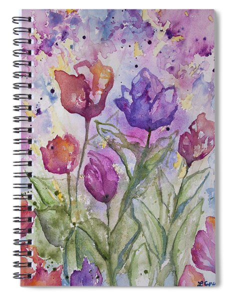 Watercolor - Spring Flowers Spiral Notebook