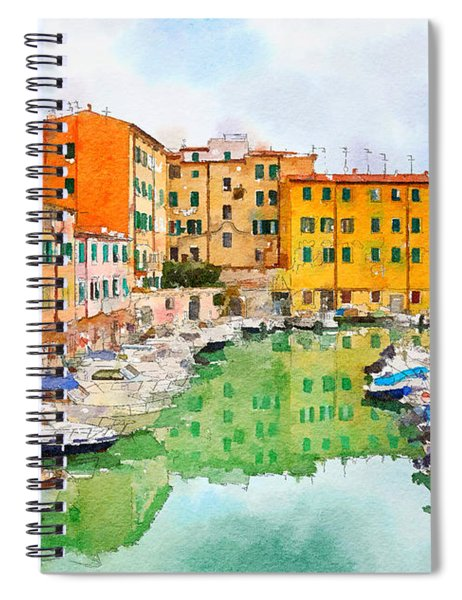 Watercolor Style Spiral Notebook