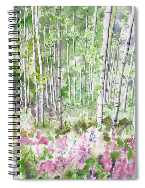 Watercolor - Summer Aspen Glade Spiral Notebook