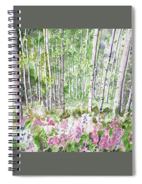 Watercolor - Summer Aspen Glade Spiral Notebook