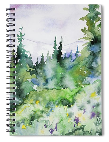 Watercolor - Summer In The Rockies Spiral Notebook