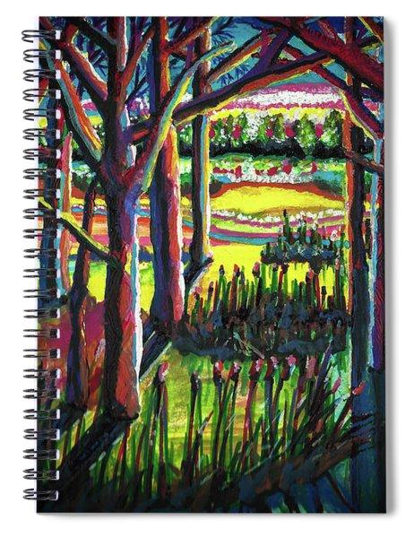 Watercolor Tree Landscape Spiral Notebook