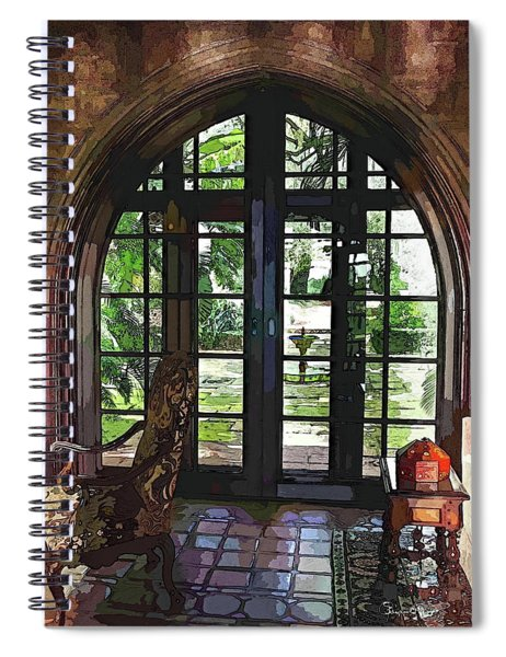 Watercolor View To The Past Spiral Notebook