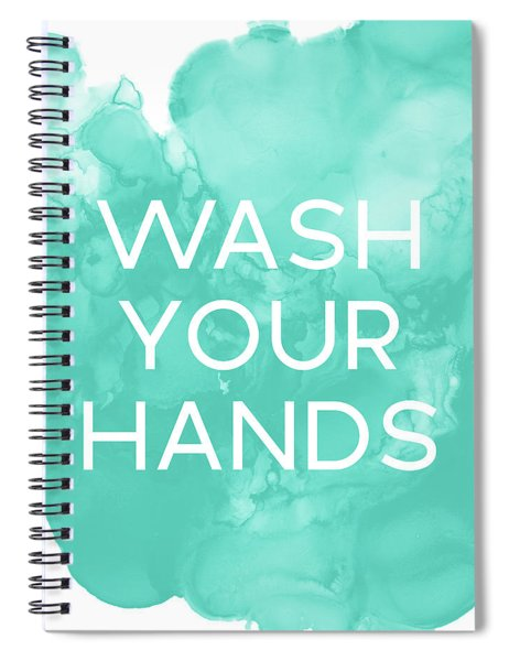 Watercolor Wash Your Hands- Art By Linda Woods Spiral Notebook