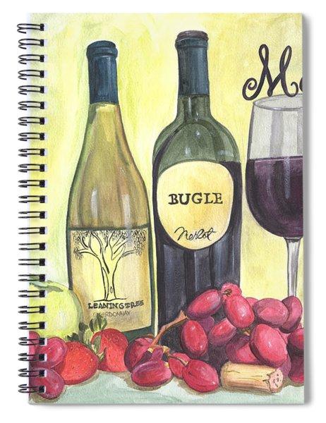 Watercolor Wine Spiral Notebook