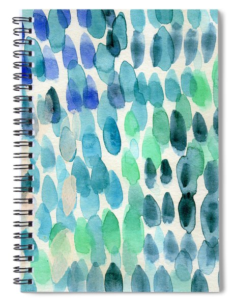 Waterfall 2- Abstract Art By Linda Woods Spiral Notebook