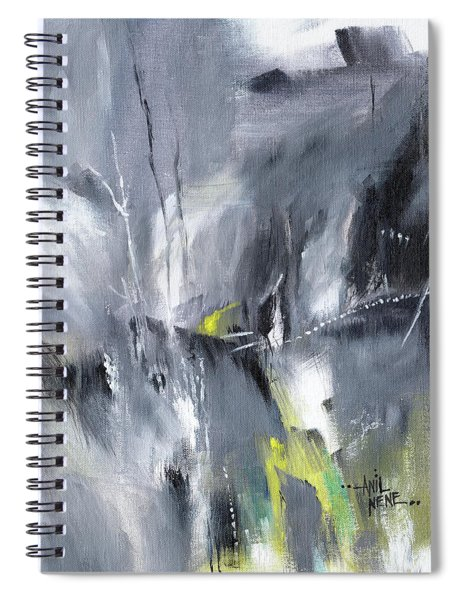 Waterfall Abstract Spiral Notebook