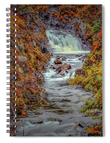 Waterfall #g8 Spiral Notebook