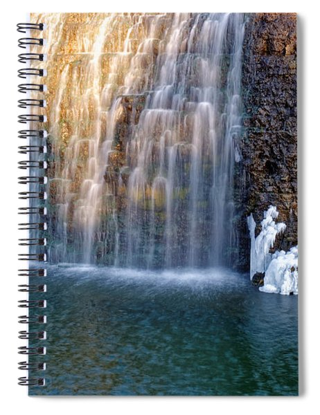 Waterfall In Winter Spiral Notebook