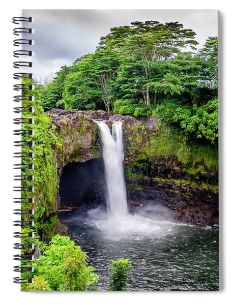 Waterfall Into The Valley Spiral Notebook