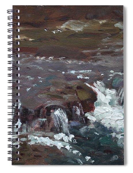Waterfalls At Three Sisters Islands Spiral Notebook