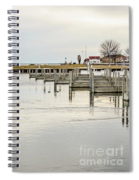 Waterfront Park In Ludington, Michigan Spiral Notebook