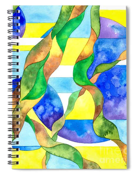 Watering The Lawn Abstract Spiral Notebook