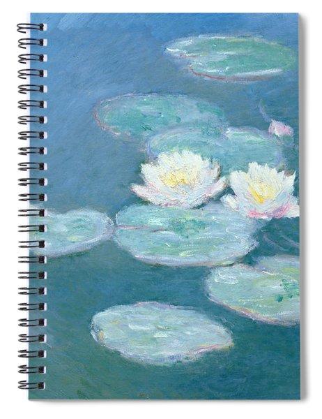 Waterlilies Evening Spiral Notebook